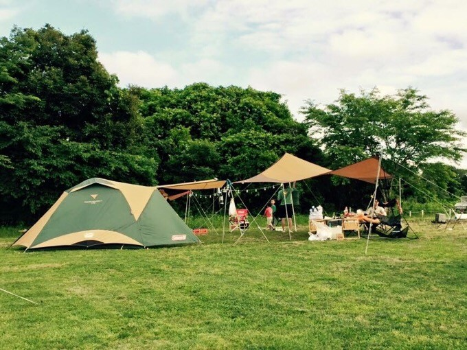 成田ゆめ牧場でグループキャンプ