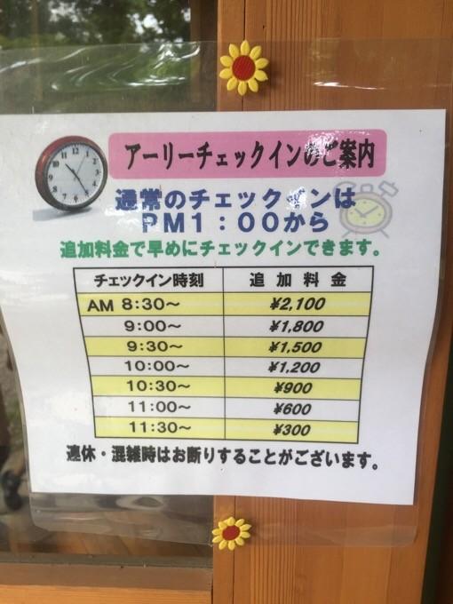 柿山田のアーリーチェックイン