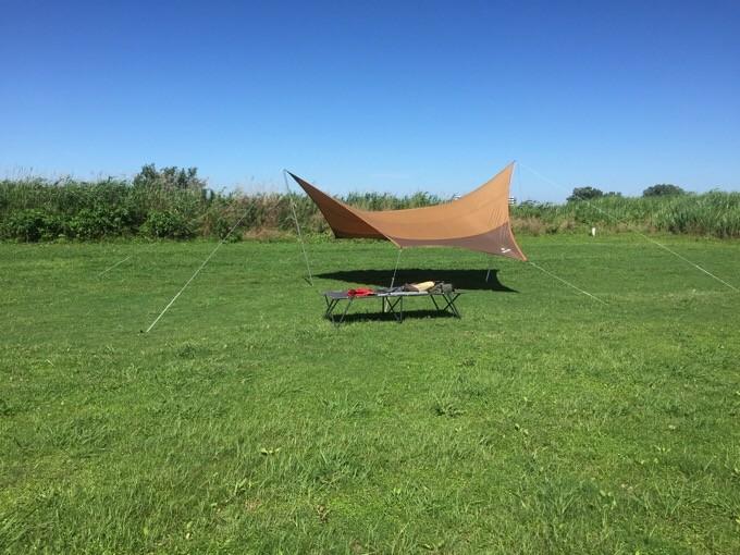 風速10メートルでも設営完了