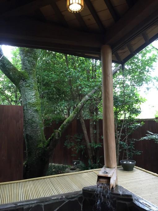 有野実苑の貸切家族風呂