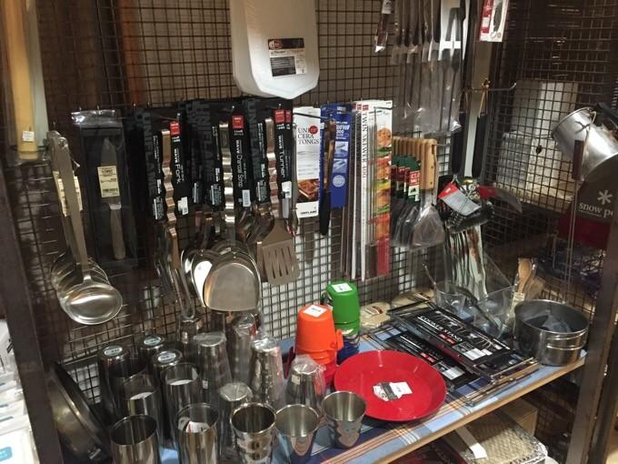 調理器具も置いてある