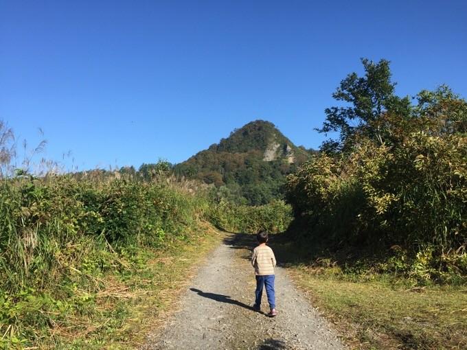 Bエリア周辺から見た山伏山