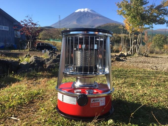富士山とアルパカストーブ