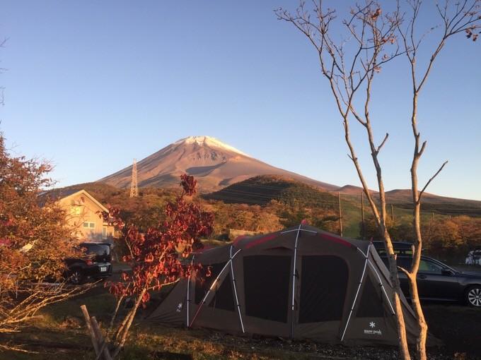 朝の富士山とトルテュ