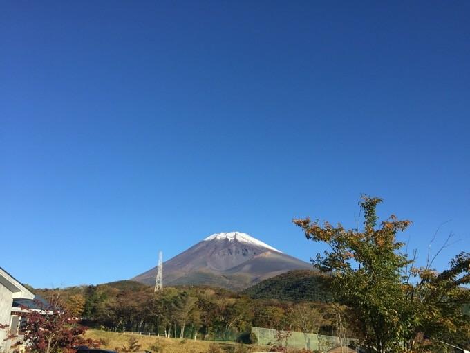 富士山の青空