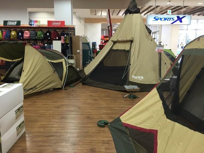 キャンパルジャパンのテント達
