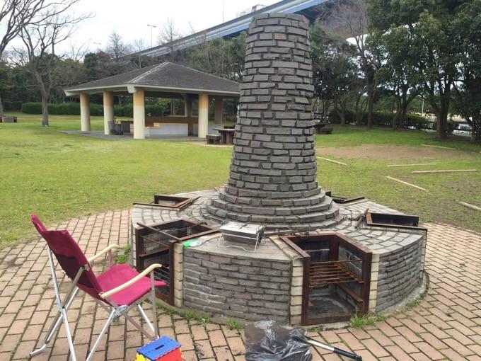 若洲公園キャンプ場の炉