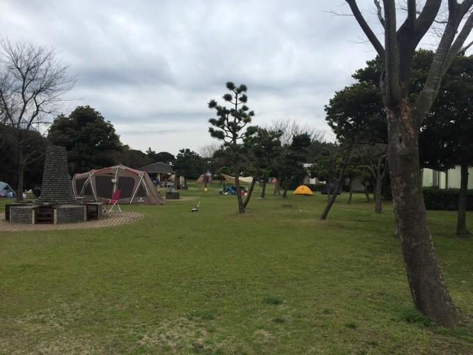若洲公園キャンプ場のサイト