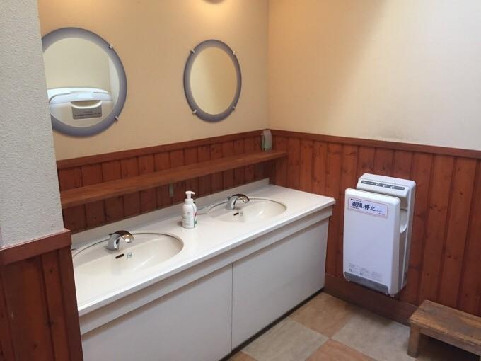 キャンピカ富士ぐりんぱのトイレ