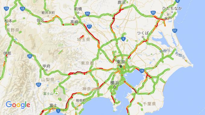 2016GW前半の渋滞