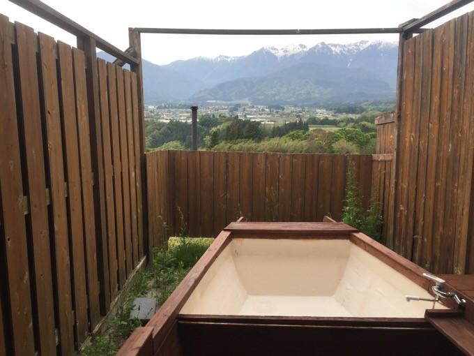 いなかの風の展望風呂