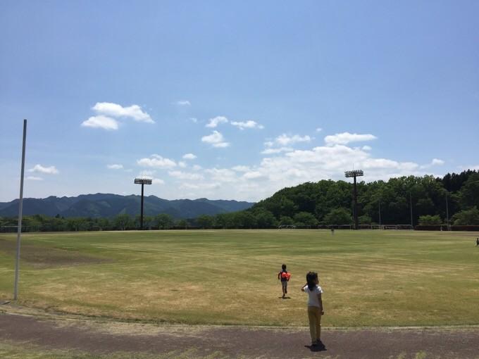 大子広域公園の大きなグラウンド