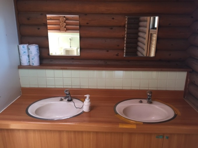 坂田ヶ池の洗面所