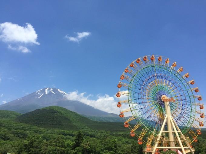 ぐりんぱの観覧車と富士山