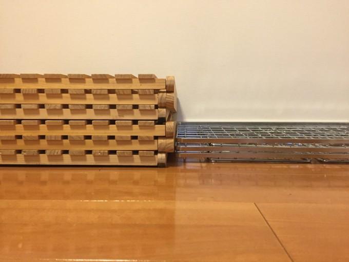 コーナンラックとフィールドラックの厚さを比較