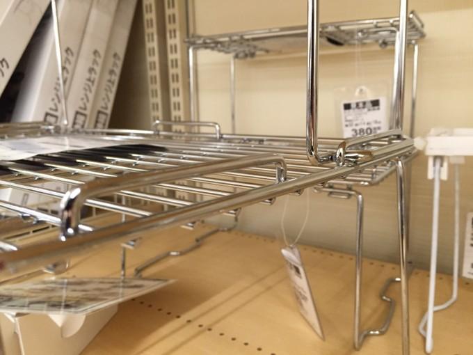 キッチンラックを積み重ねる仕組み