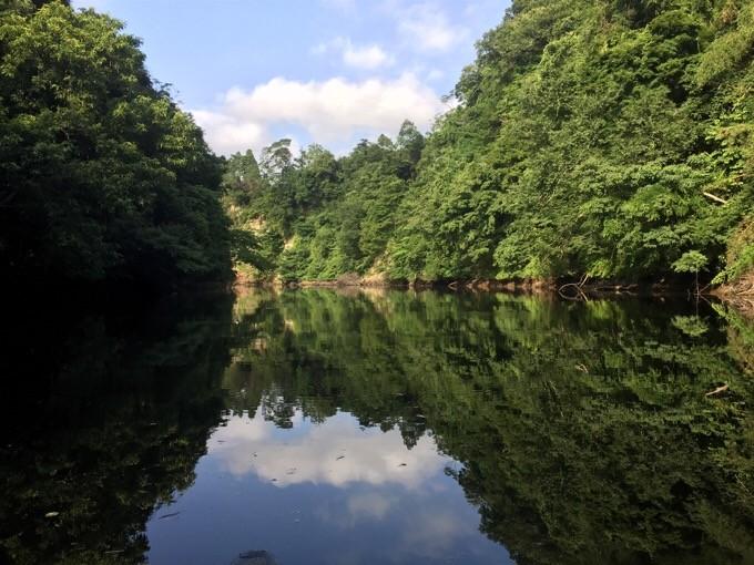 フルーツ村でカヌー体験