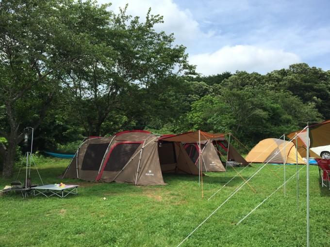 森まきでグループキャンプ