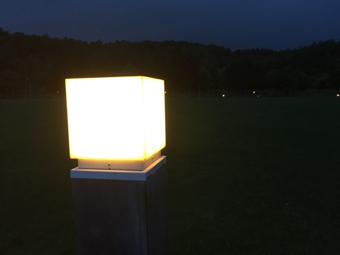 夜のオートリゾート滝野