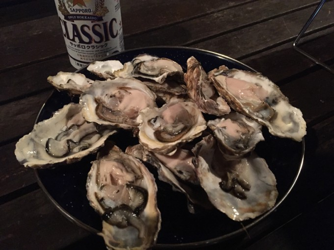 北海道の牡蠣三昧