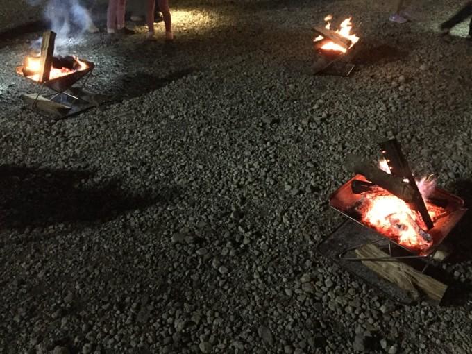 夜の焚き火イベント
