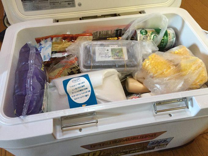 フィクセルに全ての冷蔵品を詰め込んで帰宅