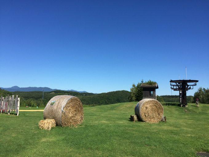 北海道らしい牧草の塊