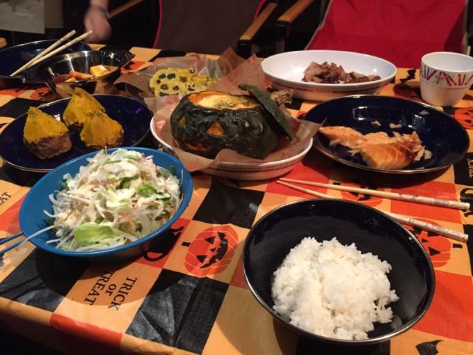 ハロウィンらしい食卓