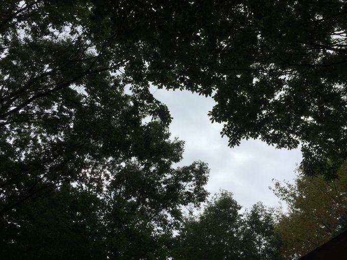 赤城山オートキャンプ場は曇り空