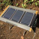 キャンプで太陽光発電!RAVPowerソーラー充電器を試してみた