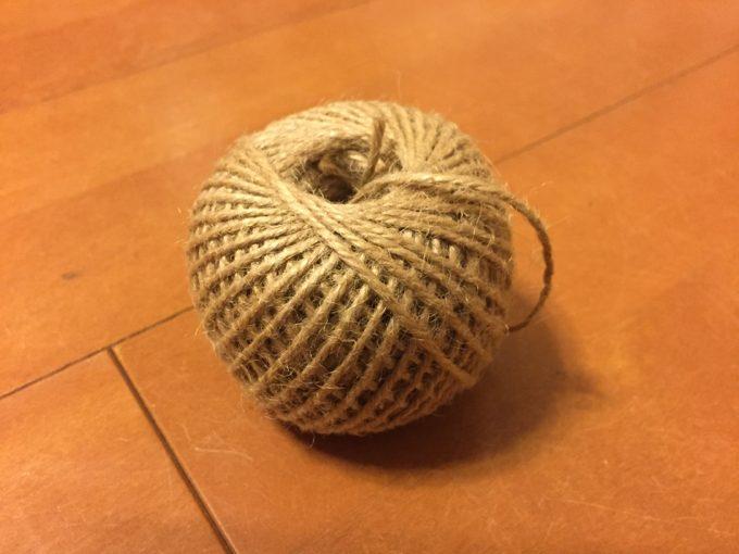 100均ダイソーで買った麻ロープ