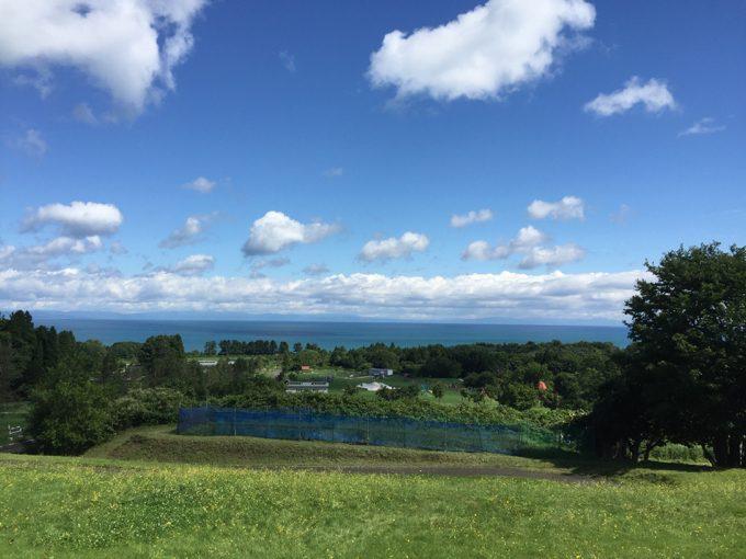 オートリゾート八雲のウッドデッキからの景色