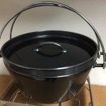 ユニフレームを代表する黒皮鉄板ダッチオーブン10インチをゲット!