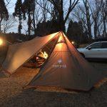 虫のいない春キャンプ!タープとコットで寝泊まりしてみた@有野実苑
