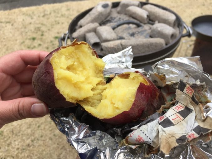 美味しい焼き芋の完成