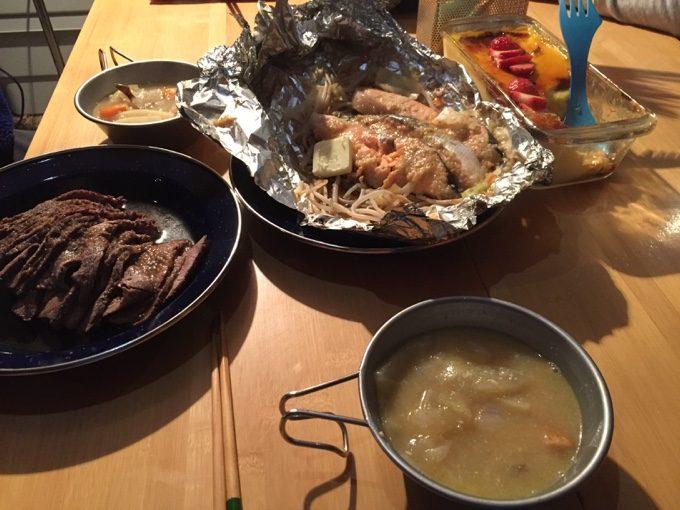 2日目の夜ご飯が完成