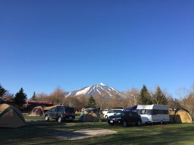朝のデビューサイトから眺める浅間山