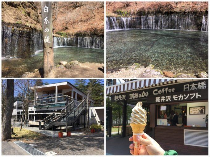 白糸の滝と旧軽井沢市街地を散策