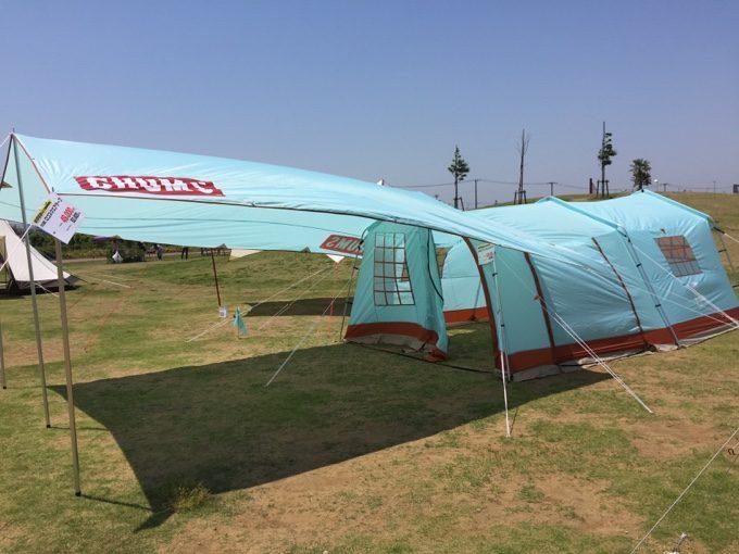 チャムスの2ルームテントとスクエアタープ