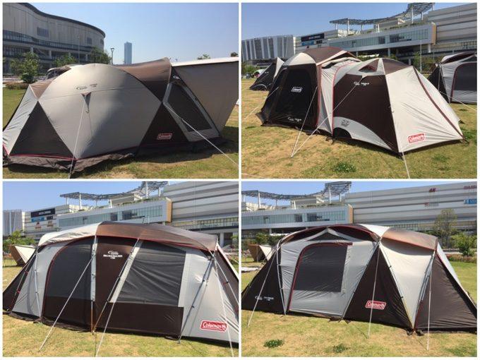 ウェザーマスターのドーム型テントや2ルームテント