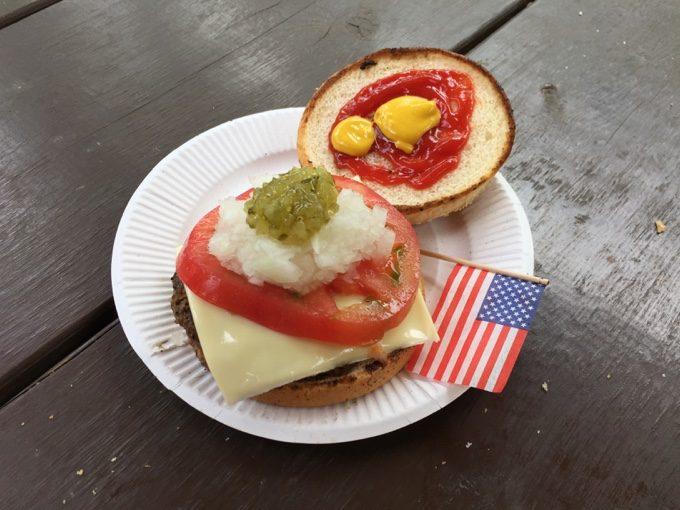 アメリカンバーガーの完成