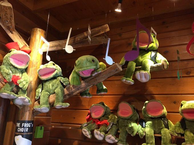 C&C那須高原のカエルくん人形