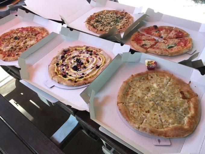 C&C那須高原のピザハウスのピザ5種
