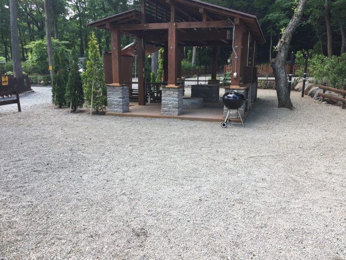 C&C那須高原は細かい砂利敷きで水はけ良好