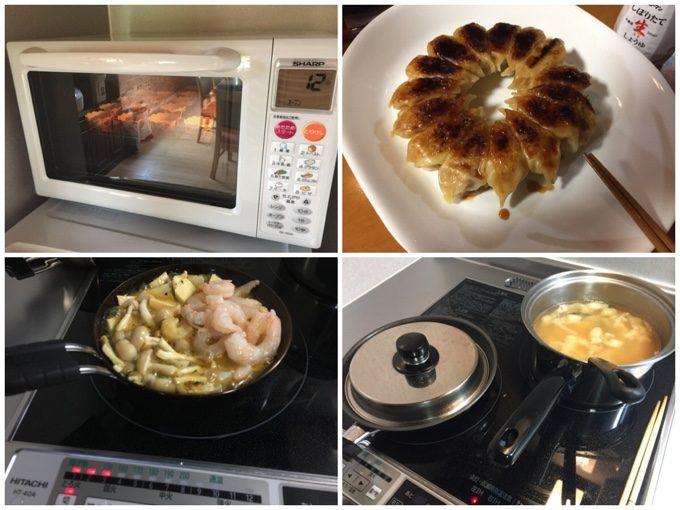 キャビンでおやつ&夕飯作り