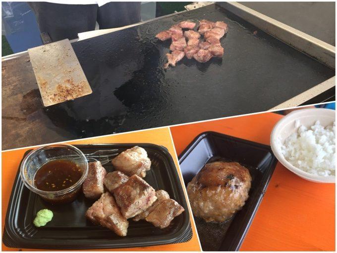 肉フェスで食べたものはイマイチだった