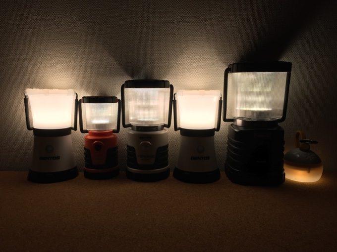 LEDランタンをHighモードで点灯