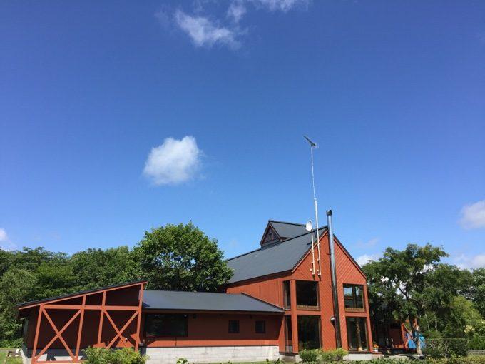 虹別オートキャンプ場のセンターハウス全景