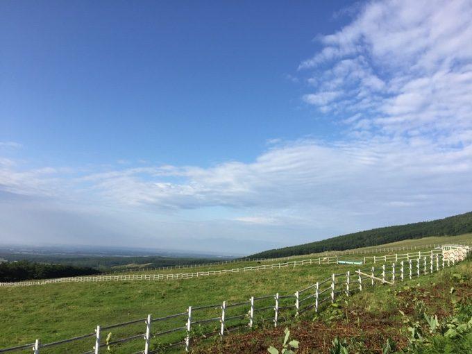 士幌高原ヌプカの里から見下ろす十勝平野