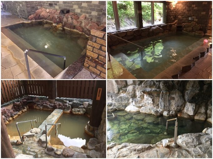然別峡かんの温泉にあるたくさんのお風呂